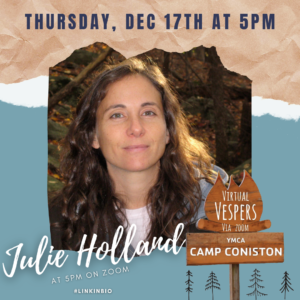Virtual Vespers 5:00PM with Julie Holland