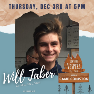 Virtual Vespers 5:00PM with Will Taber