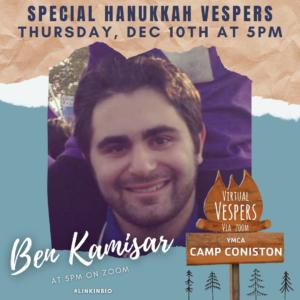 Virtual Vespers 5:00PM with Ben Kamisar