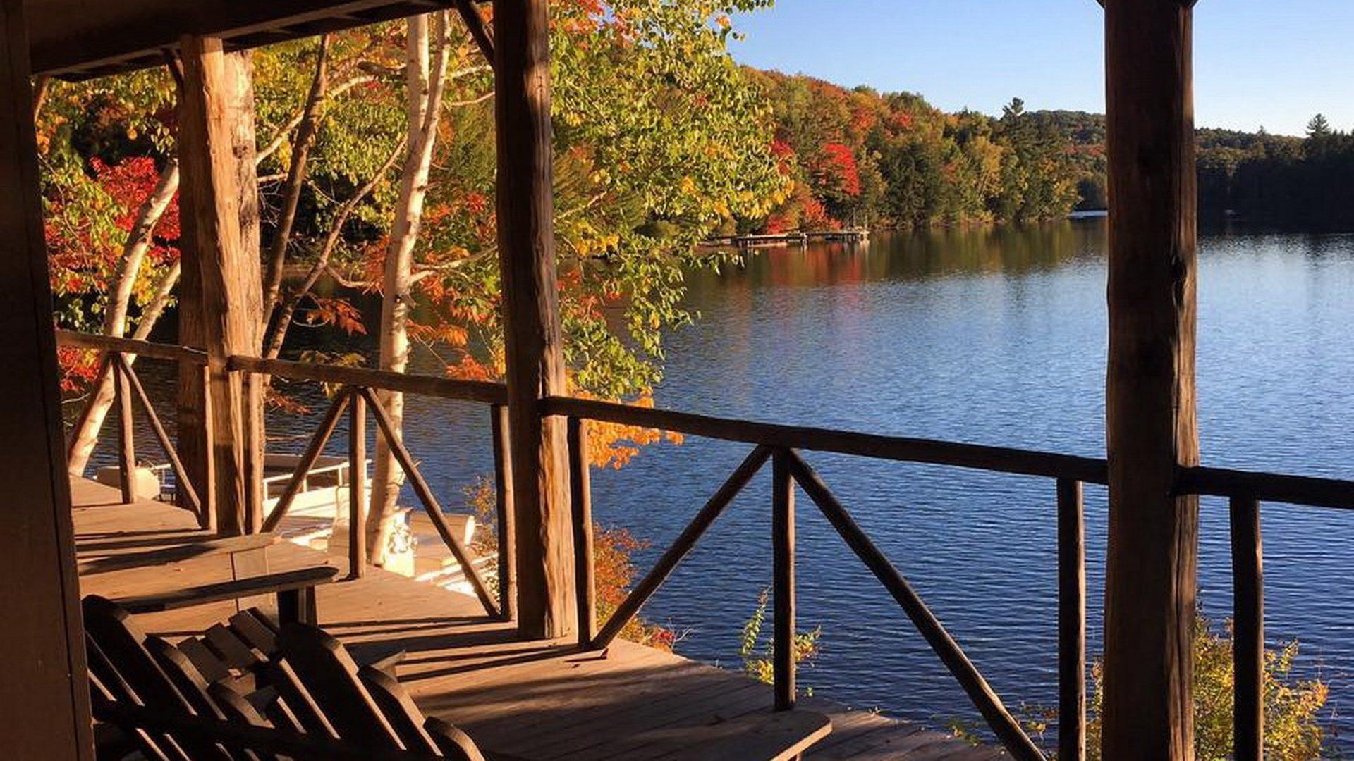 Staff Lodge Porch in Fall